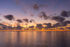 Colorful sunrise over tropical ocean Royalty Free Stock Images