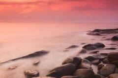 Sunrise at Sea shore Royalty Free Stock Image