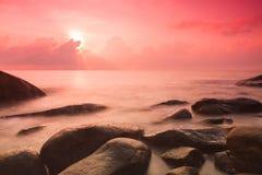 Sunrise at Sea shore Royalty Free Stock Photo