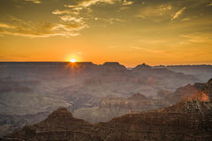 Colorful Sunrise seen from Mathers Point at the Grand Canyon Royalty Free Stock Images