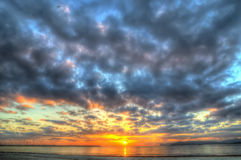 Colorful sunset in Alghero in hdr Royalty Free Stock Image
