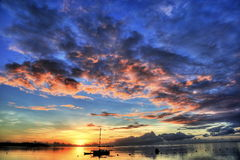 Colorful sunset Stock Images