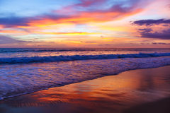 Colorful sunset on the andaman sea Royalty Free Stock Photography