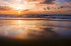 Colorful sunset at the beach Royalty Free Stock Photo