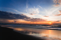 Colorful sunset at the beach Royalty Free Stock Photography