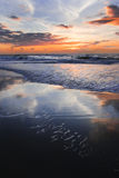 Colorful sunset at the beach Stock Photography