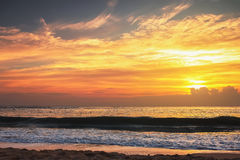 Colorful of sunset beach Royalty Free Stock Images