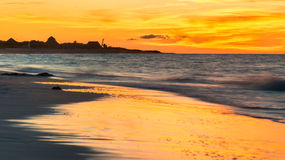 Colorful sunset at a beautiful beach in Cuba Royalty Free Stock Photos