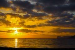 Colorful sunset in Capo Caccia Stock Photo