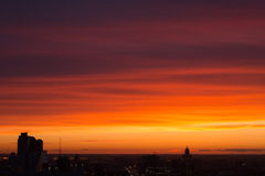 Colorful sunset in the city Royalty Free Stock Photo