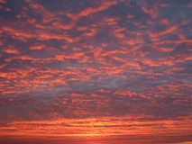 Colorful sunset with clouds Stock Photo