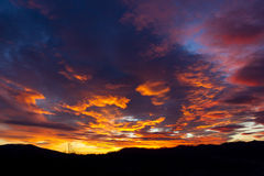 Colorful sunset and clouds Royalty Free Stock Image