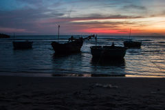 Colorful sunset on the coast of the South China Sea Royalty Free Stock Photos