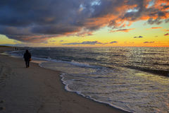 Sunset at Curonian Spit , Lithuania. Stock Image