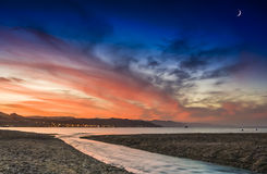 Colorful sunset in Eilat, Israel Stock Photography