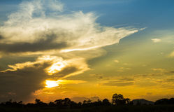 Colorful sunset in the evening Royalty Free Stock Images