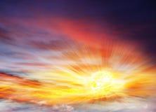Colorful sunset .Colorful sunset . Eye of god.Dramatic nature background Royalty Free Stock Photos
