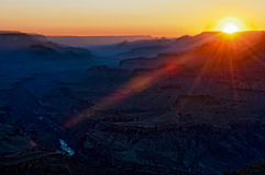 Colorful sunset in Gran Canyon Stock Photo