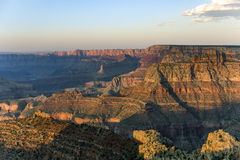 Colorful Sunset at Grand Canyon seen from Mathers Point. Fantastic view into the grand canyon from mathers point, south rim stock image