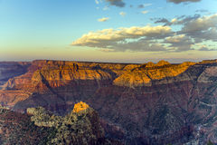 Colorful Sunset at Grand Canyon seen from Mathers Point, South R Stock Photos