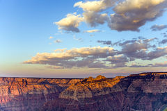 Colorful Sunset at Grand Canyon seen from Mathers Point, South R Royalty Free Stock Photos