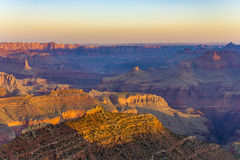 Colorful Sunset at Grand Canyon. Seen from Mathers Point, South Rim stock image