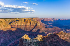 Colorful Sunset at Grand Canyon. Seen from Mathers Point, South Rim royalty free stock photo