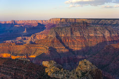 Colorful Sunset at Grand Canyon seen from Mathers Point. South Rim royalty free stock images