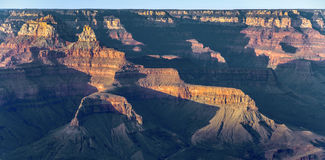 Colorful Sunset at Grand Canyon seen from Mathers Point. South Rim stock images