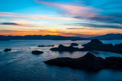 Sunset in Indonesia Royalty Free Stock Images