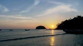 Colorful sunset on  kata noi   beach Stock Image
