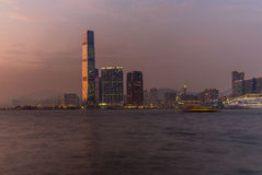 Colorful Sunset on Kowloon in Hong Kong - 1 Stock Image
