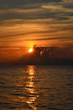 Colorful sunset on lake Baikal Royalty Free Stock Images