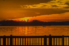 Colorful Sunset At The Lake Royalty Free Stock Images