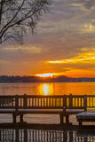 Colorful Sunset At The Lake Stock Photography