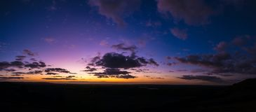 Colorful sunset. The last lights of the day Royalty Free Stock Photography