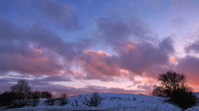 Colorful sunset, Lithuania Royalty Free Stock Photography