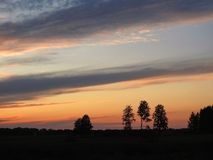 Colorful sunset, Lithuania Royalty Free Stock Photos
