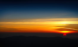 Colorful Sunset at the Mountain Royalty Free Stock Photo