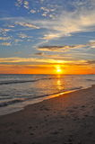 Colorful sunset. Sunset off Panama City Beach royalty free stock image