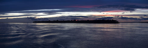 Colorful Sunset On The River Amazon In The Rainforest, Brazil Stock Photos