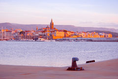 Colorful sunset over Alghero Royalty Free Stock Images