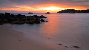 Colorful sunset over Andaman sea at twilight Royalty Free Stock Photo