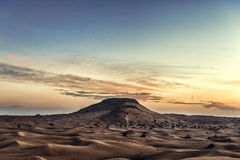 Colorful sunset over desert. Colorful red sunset over desert stock images