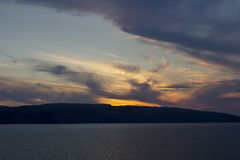 Colorful sunset over the Island of Krk Royalty Free Stock Image