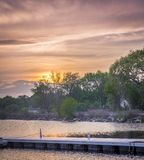 Colorful sunset over Lake Royalty Free Stock Image