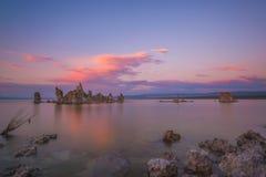 Colorful Sunset over Mono Lake Stock Photography