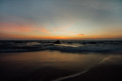 Colorful sunset over ocean. Royalty Free Stock Images