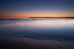Colorful sunset over sea Stock Image