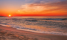 Colorful sunset. Over the sea Stock Image